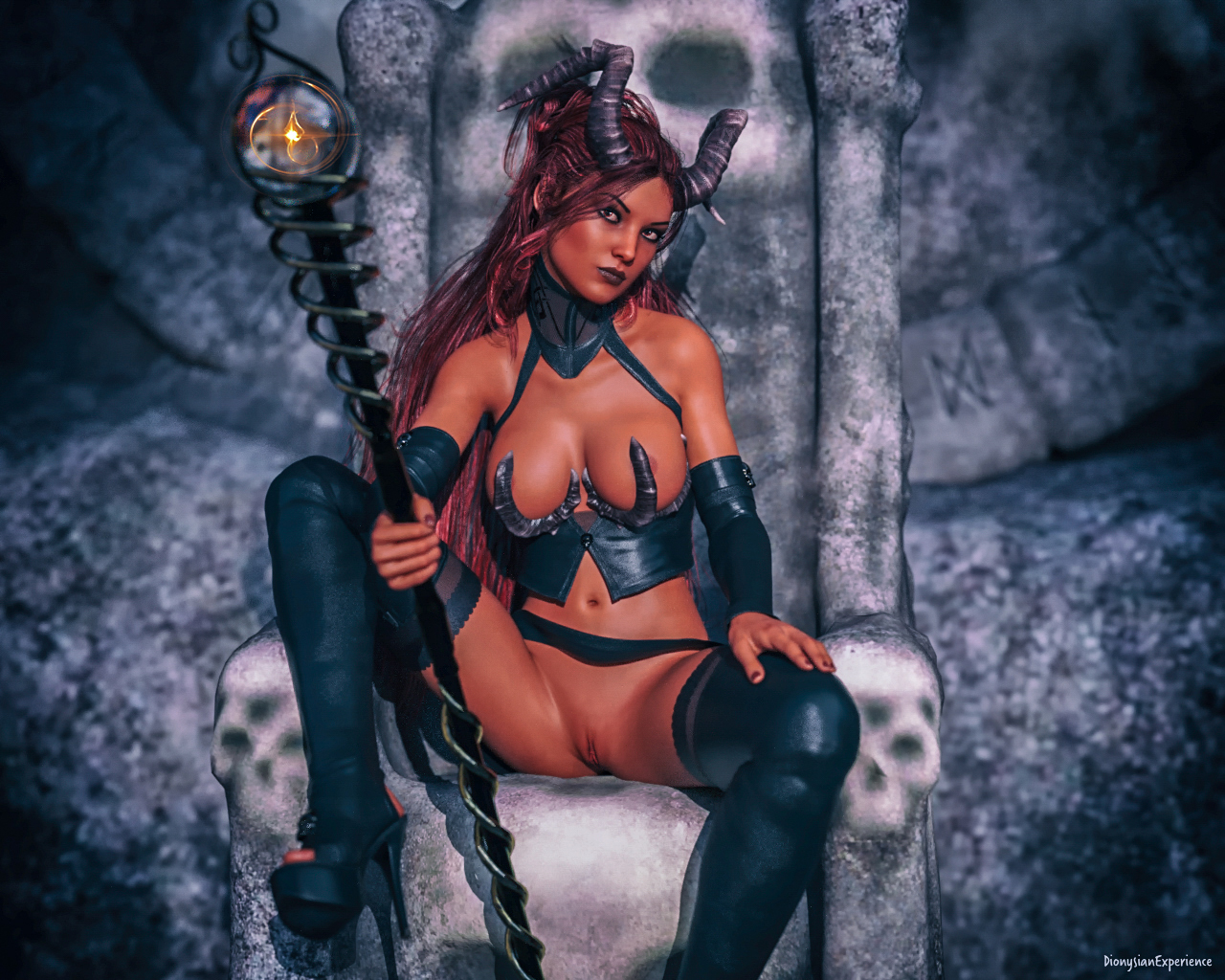 Digital Art: Succubus – Devil Woman